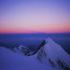 Dawn shadow of Mt Blanc behind t Aiguille d'Bionnasay July 2005